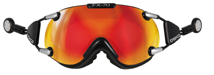 Casco FX-70 Carbonic Black - orange mirror lyžařské brýle