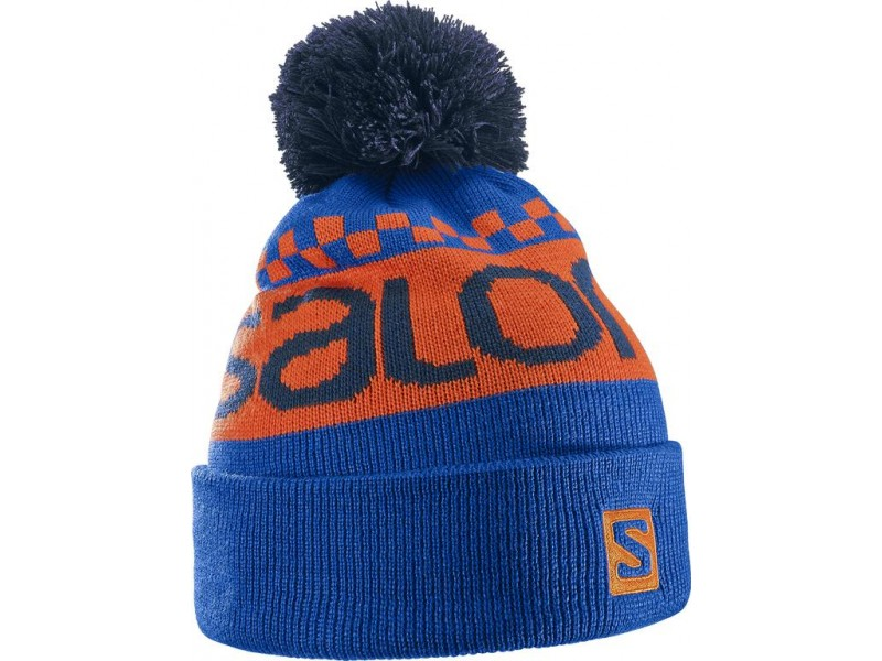 Salomon FREE Beanie Blue yonder/vivid orange čepice