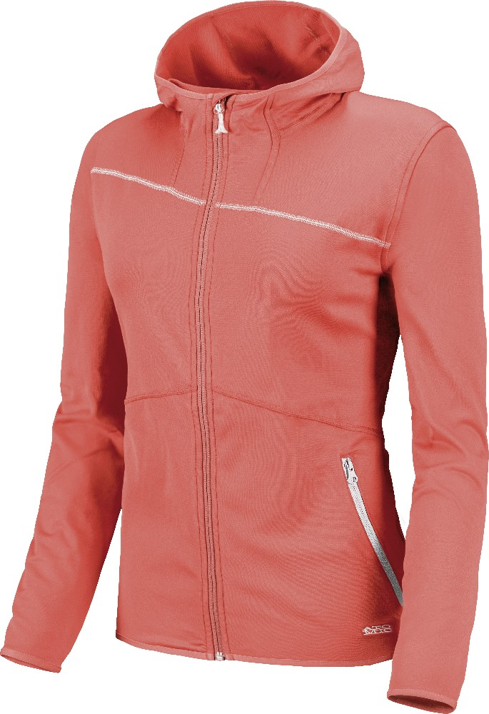 Atomic Ridgeline Microfleece Jacket W with hood coral mikina