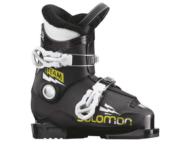 Salomon TEAM T2 black white acide green dětské lyžařské boty - WAVE ... f7430d396b