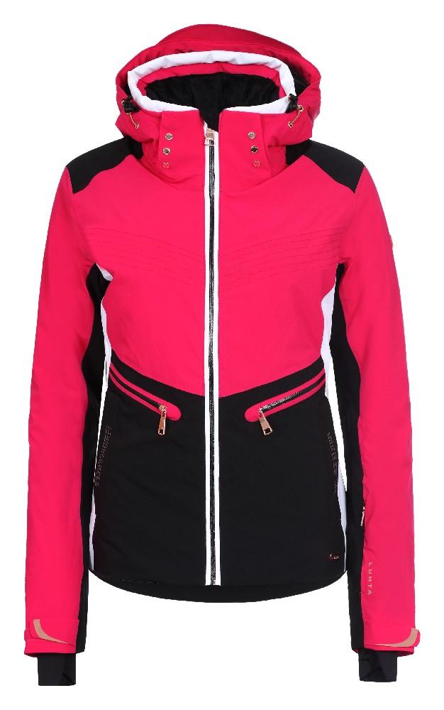 fcf40264e6f9 Luhta BIANCA L7 pink black dámská bunda s umělou kožešinou - WAVE SPORT