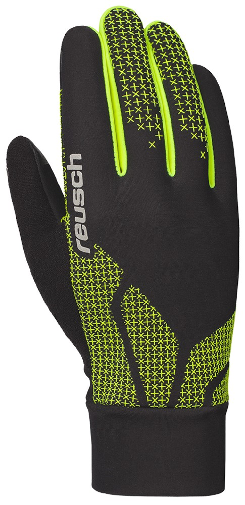 Reusch IAN JUNIOR NORDIC black/yellow běžecké rukavice