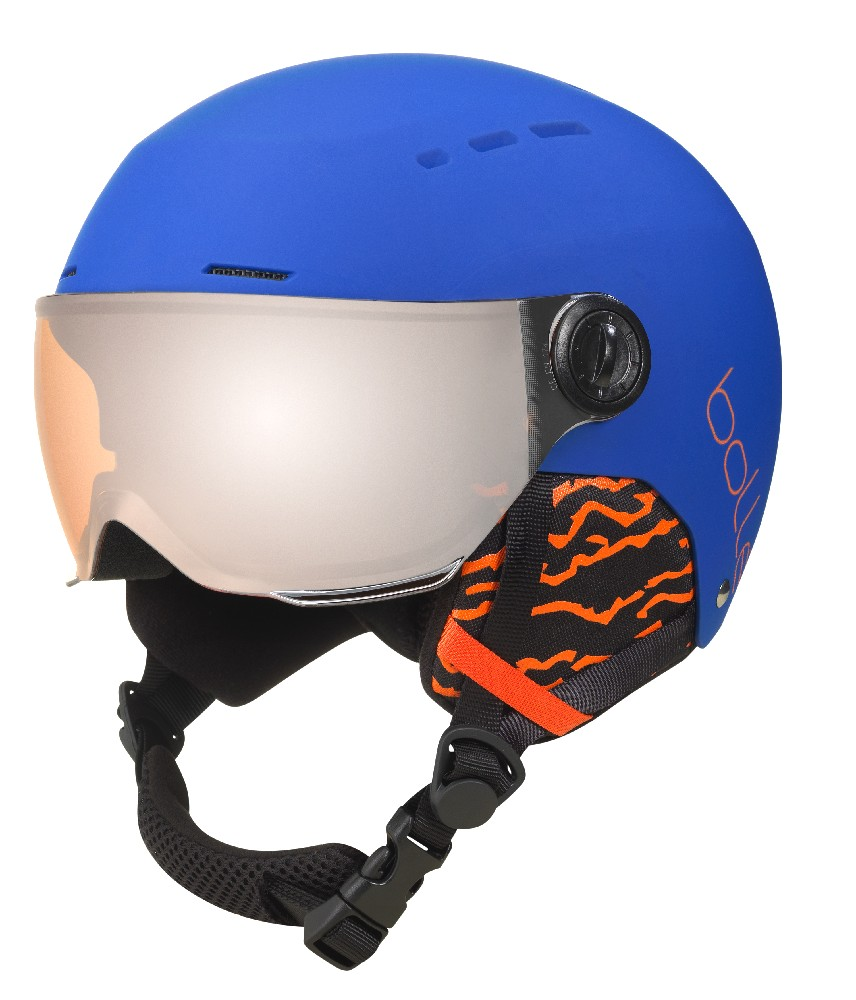Bollé QUIZ VISOR Matt Royal Blue/ Orange Gun Visor dětská helma