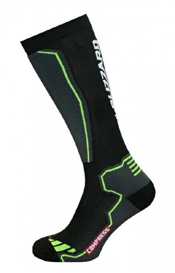 Blizzard Compress 85 ski socks black/yellow