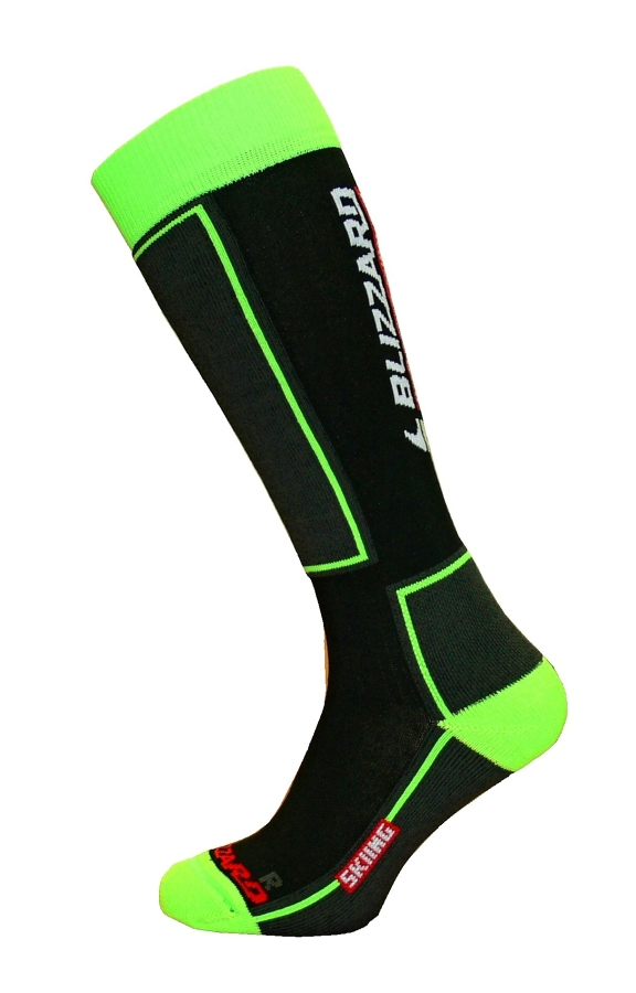BLIZZARD Skiing ski socks, black/green