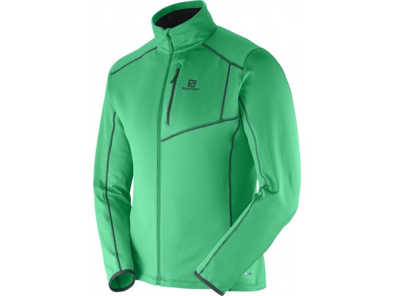 Salomon DISCOVERY FZ M Real Green midlayer