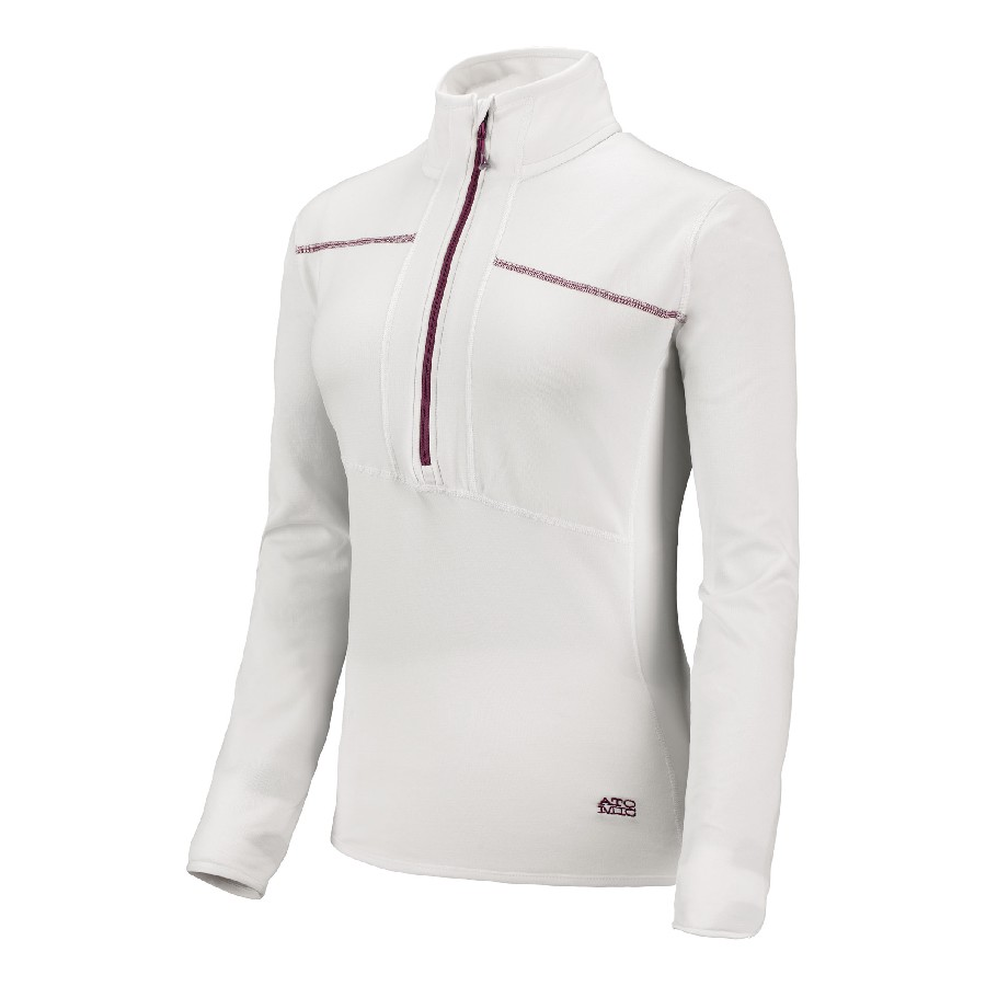 Atomic Cliffline Microfleece Zip Neck W white